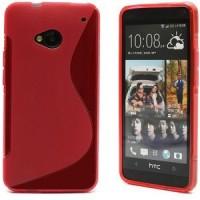 HTC One (M7) Gummihülle - Rot Glanz/Matt